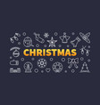 christmas outline horizontal vector image