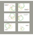 Circle annual report Brochure Flyer vector image