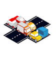 city intersection traffic jams vector image vector image