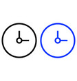clock icon time icon vector image vector image