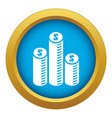 coin money chart icon blue isolated vector image vector image