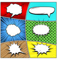 comic bright backgrounds vector image vector image