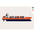 Container Ship Icon vector image
