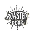 Creative logo design with pork vector image vector image