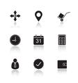 Delivery service drop shadow icons set vector image vector image