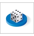 Dice Isometric icon Isolated on white background vector image vector image