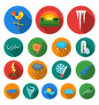 different weather flat icons in set collection for vector image vector image
