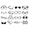 eye glasses icons set vector image