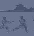 Fighting art of kung fu vector image vector image