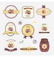 Figs set of label design vector image vector image