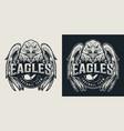 football team vintage logo vector image vector image