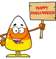 funny candy corn cartoon character vector image vector image