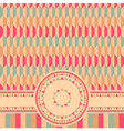 geometrical retro card vector image vector image