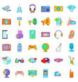 good device icons set cartoon style vector image vector image