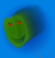 green mask with laser eyes - abstract vector image vector image