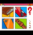 guess objects cartoon game for children vector image vector image