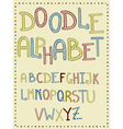 Hand Drawn Doodle Letters vector image vector image