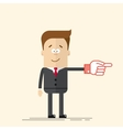 Happy businessman or manager It shows side his vector image vector image