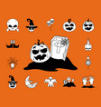 happy halloween trick or treat celebration party vector image vector image