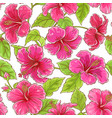 hibiscus flowers pattern vector image