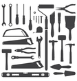 House remodel instruments silhouette set