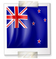 icon design for flag of new zealand vector image vector image