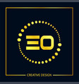 initial eo letter logo template design vector image