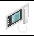 intercom video door-phone or entry system used vector image vector image