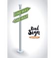 Isometrics road sign design