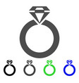 jewelry ring icon vector image vector image