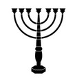 jewish candlestick icon vector image vector image