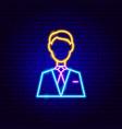 man neon sign vector image