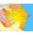 Map of Azerbaijan vector image vector image