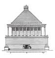 mausoleum at halicarnassus a tomb built vintage vector image vector image