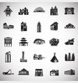 modern and ancient buildings set on white vector image