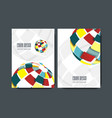 modern design templates for a4 covers vector image vector image