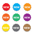 new sign icon new label star symbol colorsed vector image