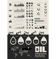 Oil Industry Infographic Elements vector image vector image