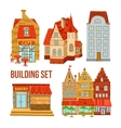 Old Town Buildings Set vector image vector image