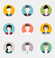 people icons flat icons collection vector image vector image
