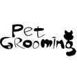 Pet grooming logo vector image