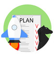 planning start up vector image vector image