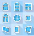 plastic windows icons set flat style vector image vector image