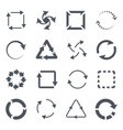 refresh icons black looped arrows download vector image