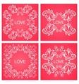 Set floral decorative frame vector image vector image