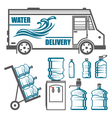 set images for water delivery vector image