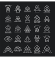 Set of 25 trendy geometric shapes Hipster retro vector image vector image