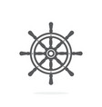 ship wheel icon on white background vector image