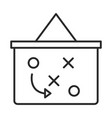 soccer game strategy board tactic league vector image