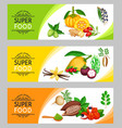superfood banner template vector image vector image